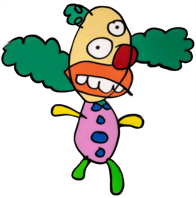 The Simpsons - Krusty the Clown Sketch Enamel Pin | Merchandise