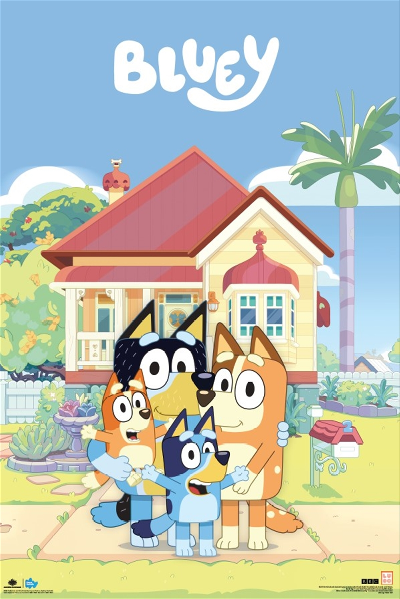 Bluey Family House Poster | Merchandise