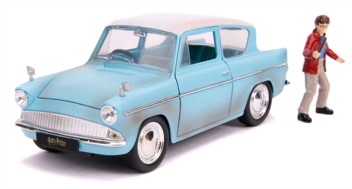 Harry Potter - 1959 Ford Anglia 1:24 Hollywood Ride Diecast Vehicle   Merchandise