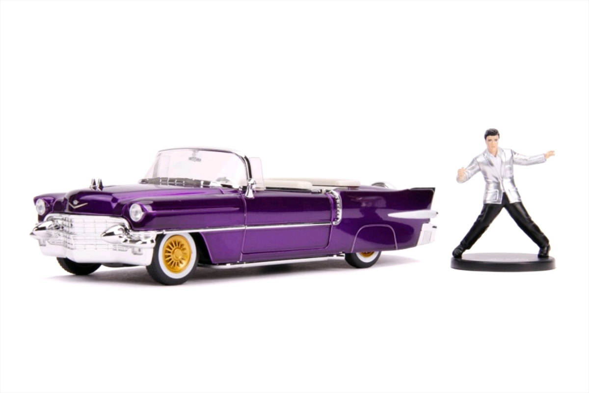 Elvis - 1956 Cadillac El Dorado 1:24 with Figure Hollywood Ride | Merchandise