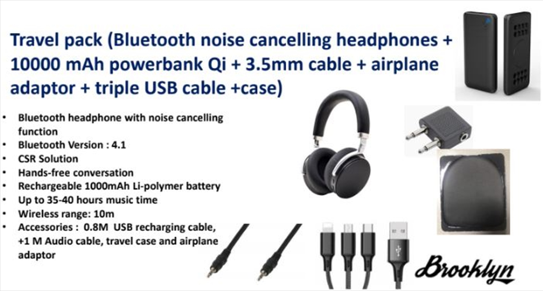 Noise Cancelling Headphones - Travel Pack | Merchandise