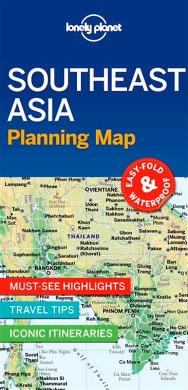 Lonely Planet: Southeast Asia Planning Map | Sheet Map