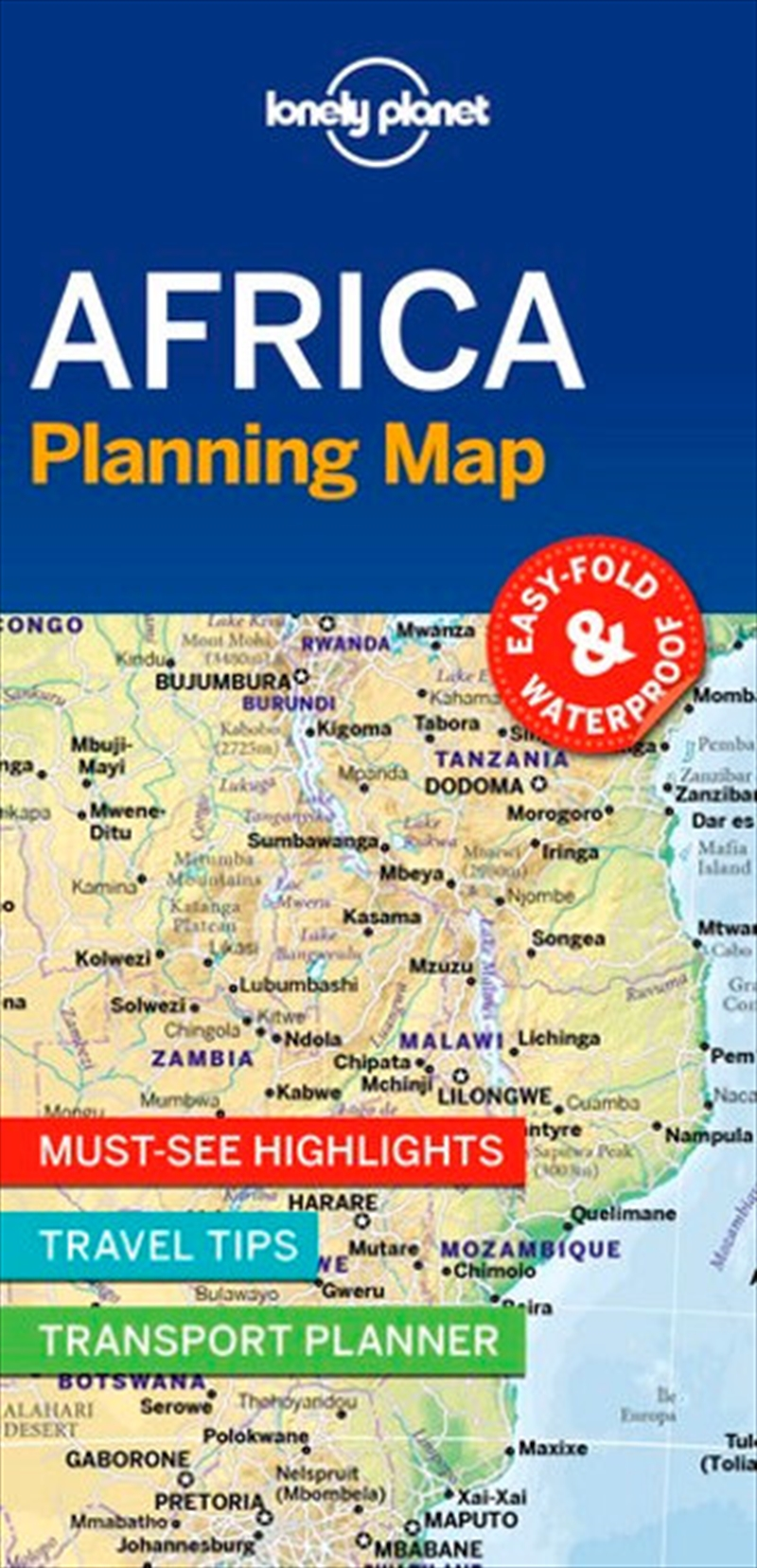 Lonely Planet Africa Planning Map | Sheet Map
