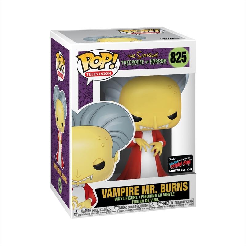 Simpsons - Mr Burns as Dracula Pop! NYCC19 RS | Pop Vinyl