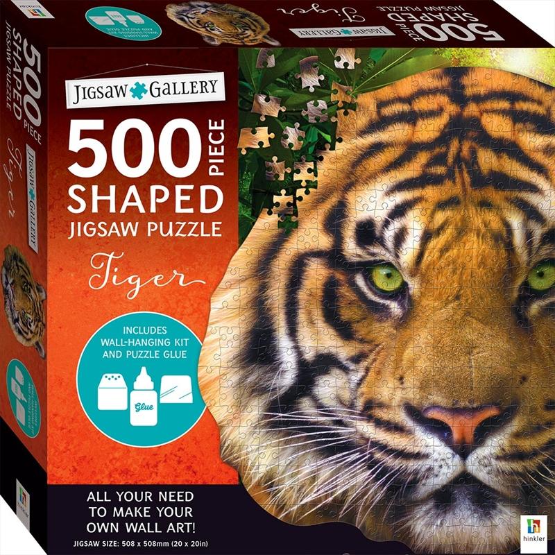 500 Piece Shaped Jigsaw: Tiger | Merchandise