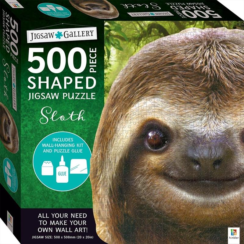 500 Piece Shaped Jigsaw: Sloth | Merchandise