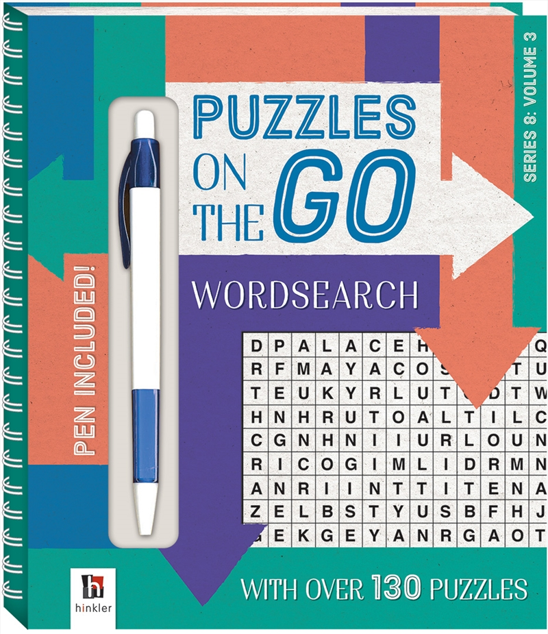 Puzzles on the Go: Wordsearch Series 8 Volume 3 | Paperback Book