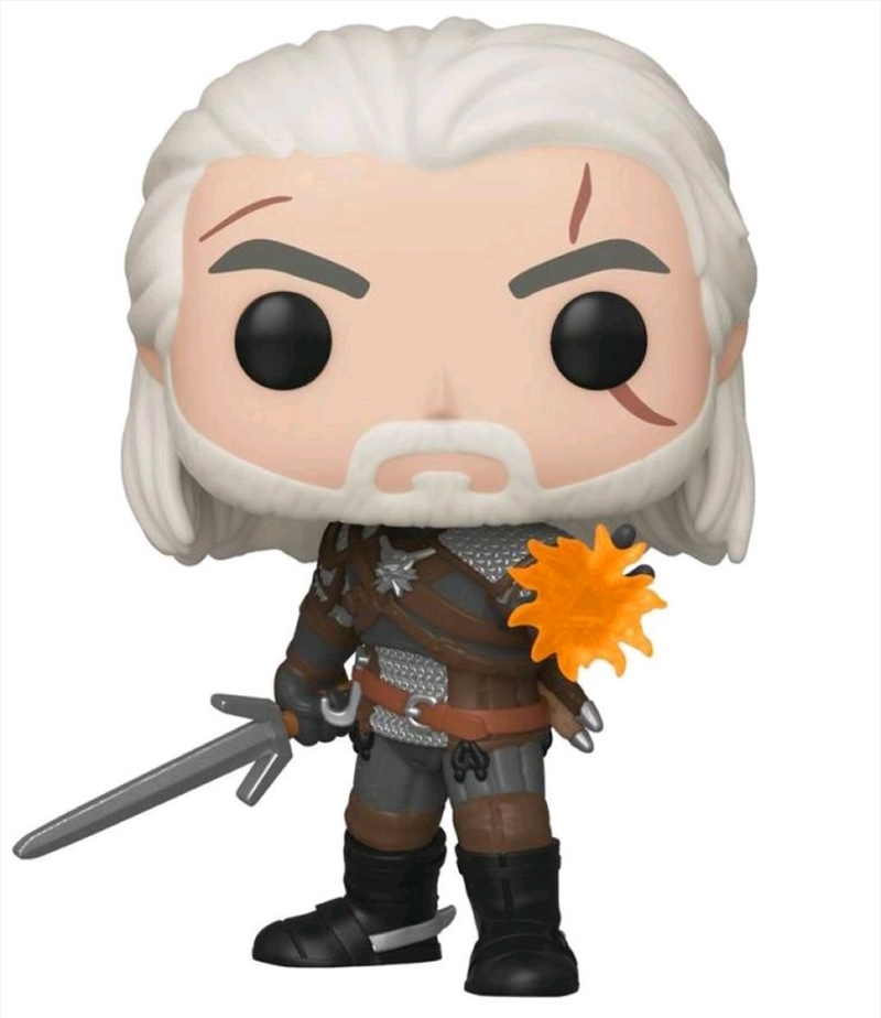 The Witcher 3: Wild Hunt - Geralt Glow US Exclusive Pop! Vinyl [RS] | Pop Vinyl