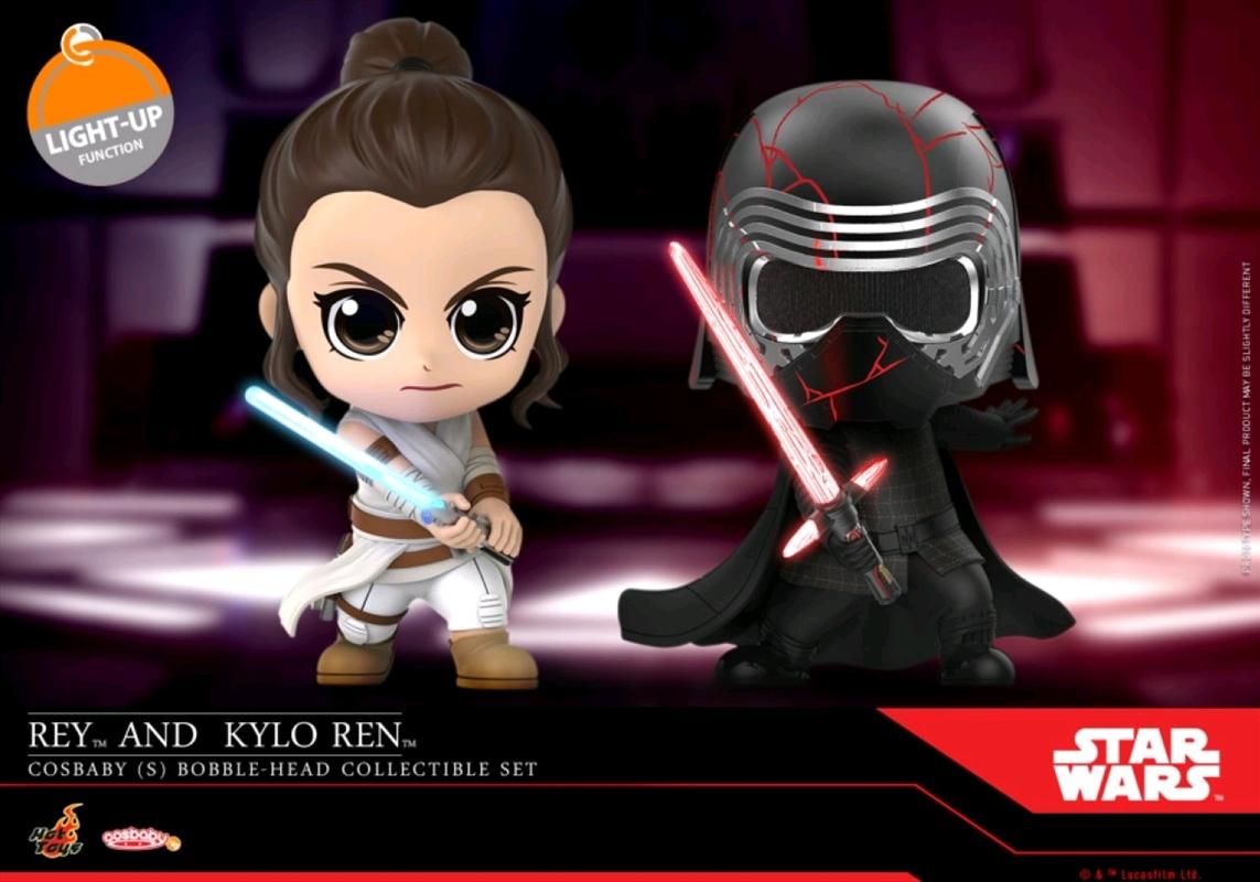 Star Wars - Rey & Kylo Ren Episode IX Rise of Skywalker Cosbaby Set | Merchandise