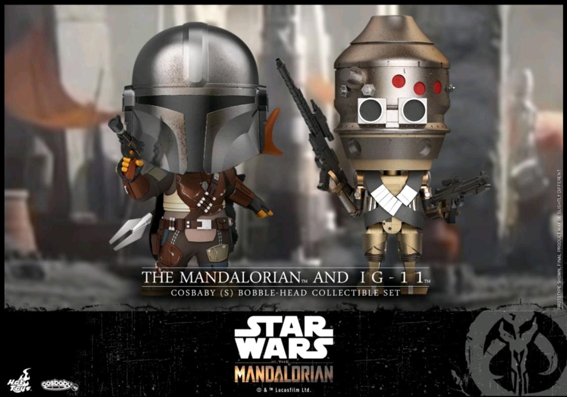 Star Wars: Mandalorian - The Mandalorian & IG-11 Cosbaby Set   Merchandise