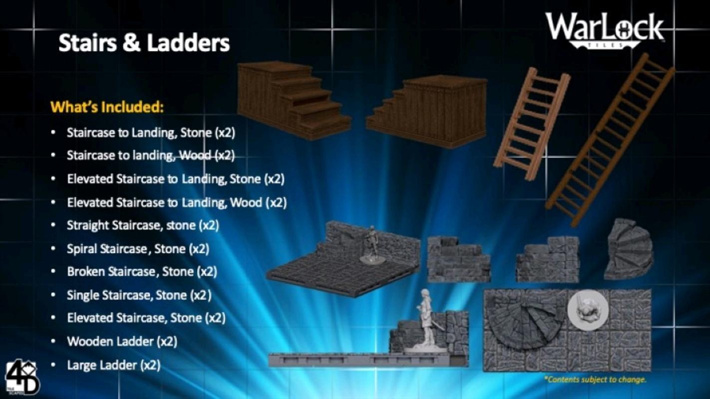 WarLock Tiles - Stairs & Ladders | Merchandise