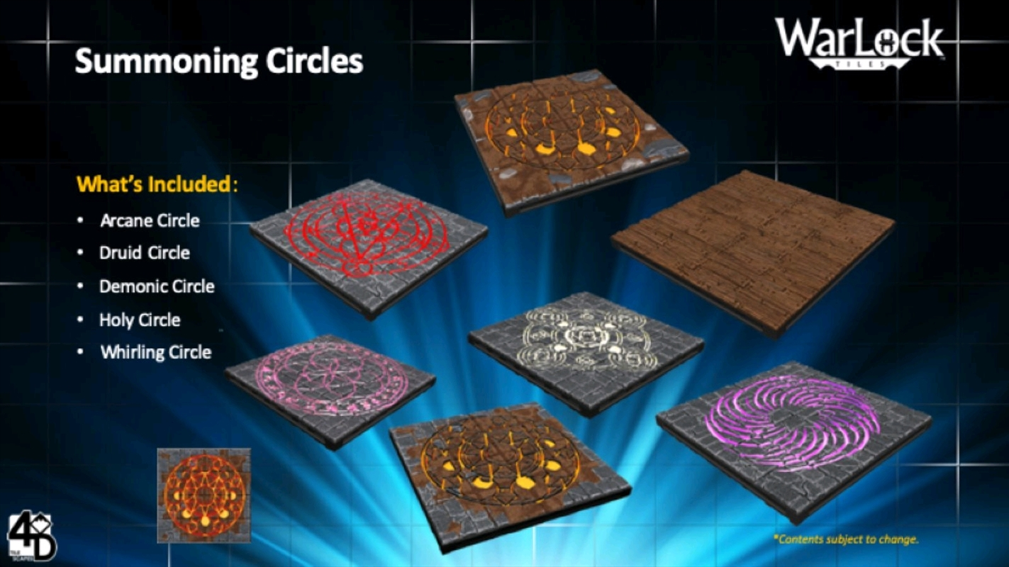 WarLock Tiles - Summoning Circles | Merchandise