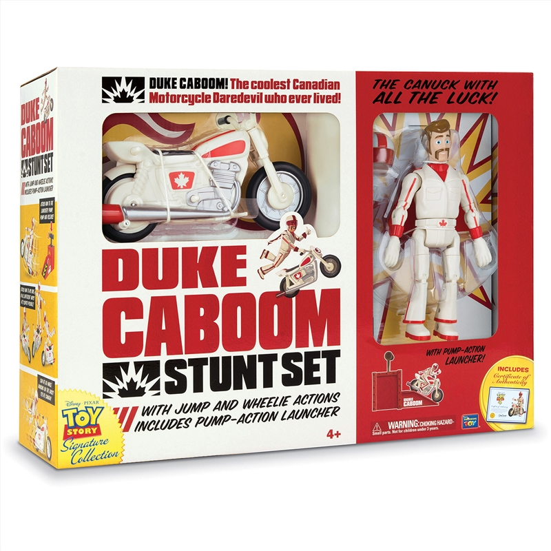 Toy Story 4 - Duke Caboom 7 Inch With Bike Signature Range Toy | Toy