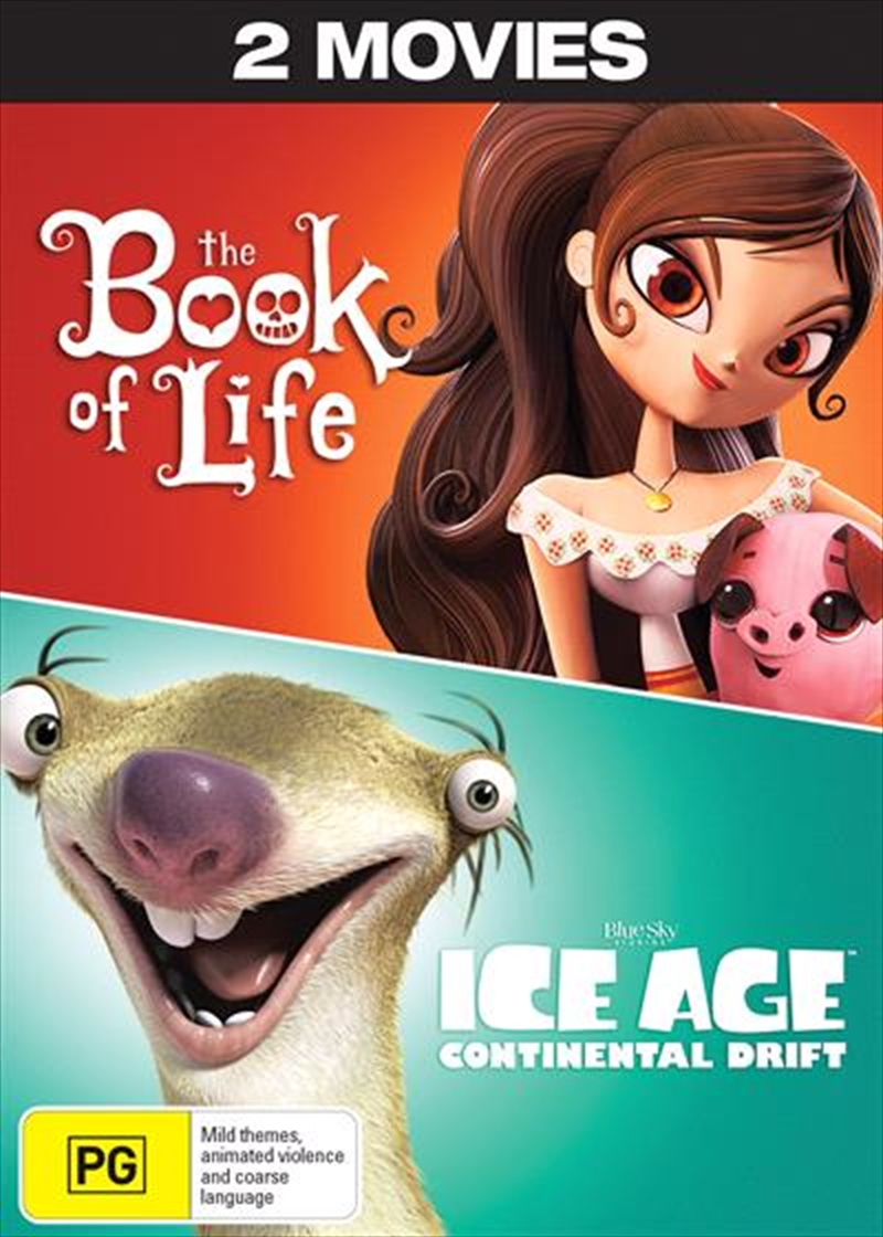 Ice Age 4 - Continental Drift / The Book Of Life   DVD