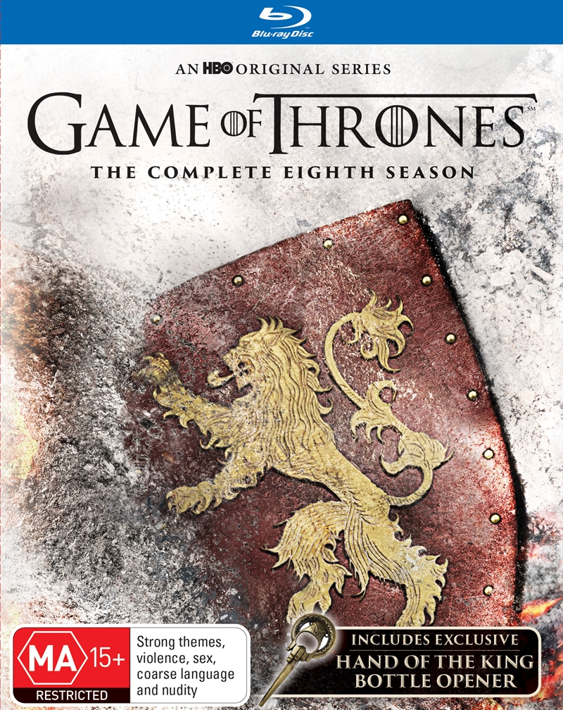 Game Of Thrones - Season 8  (SANITY EXCLUSIVE) + (BOTTLE OPENER) | Blu-ray