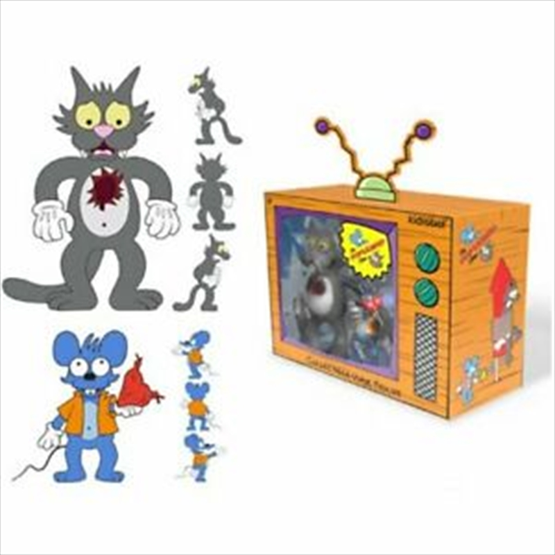 Simpsons - Itchy & Scratchy Medium Figure | Merchandise