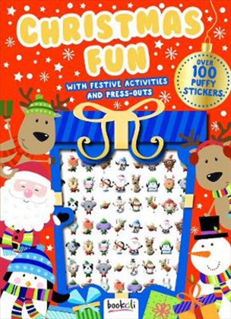 Puffy Sticker Christmas Fun With Festive Activities   Paperback Book
