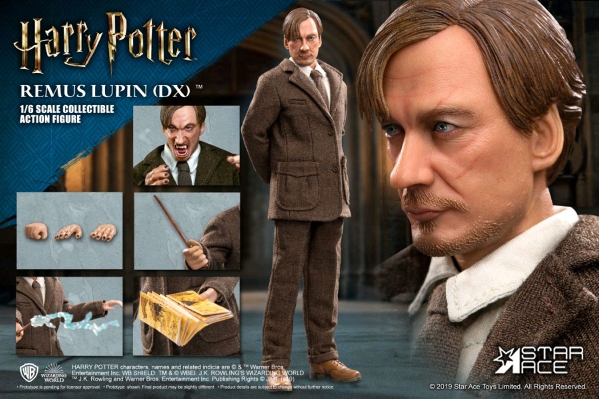 """Harry Potter - Remus Lupin Deluxe 1:6 Scale 12"""" Action Figure 