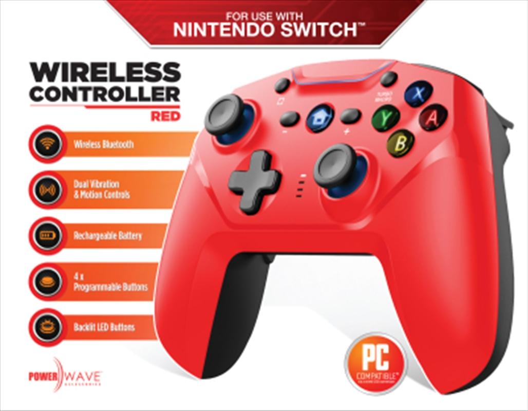 Powerwave Switch Wireless Controller Red | Nintendo Switch