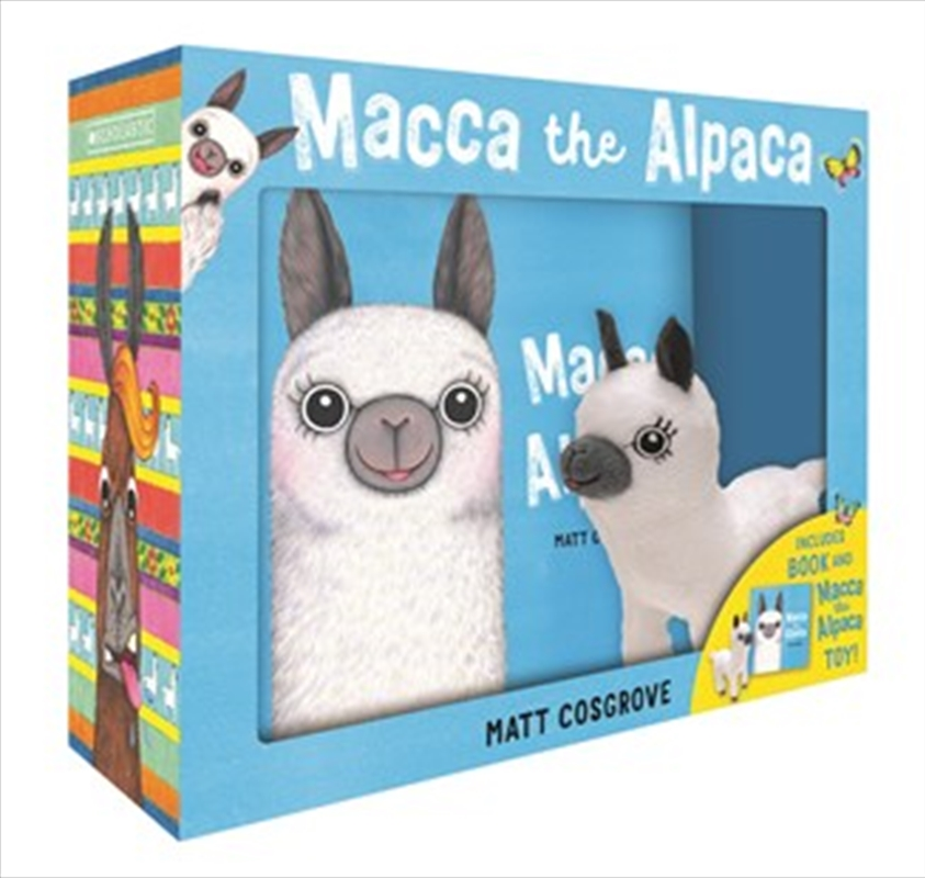 Macca the Alpaca Plush Box Set | Hardback Book