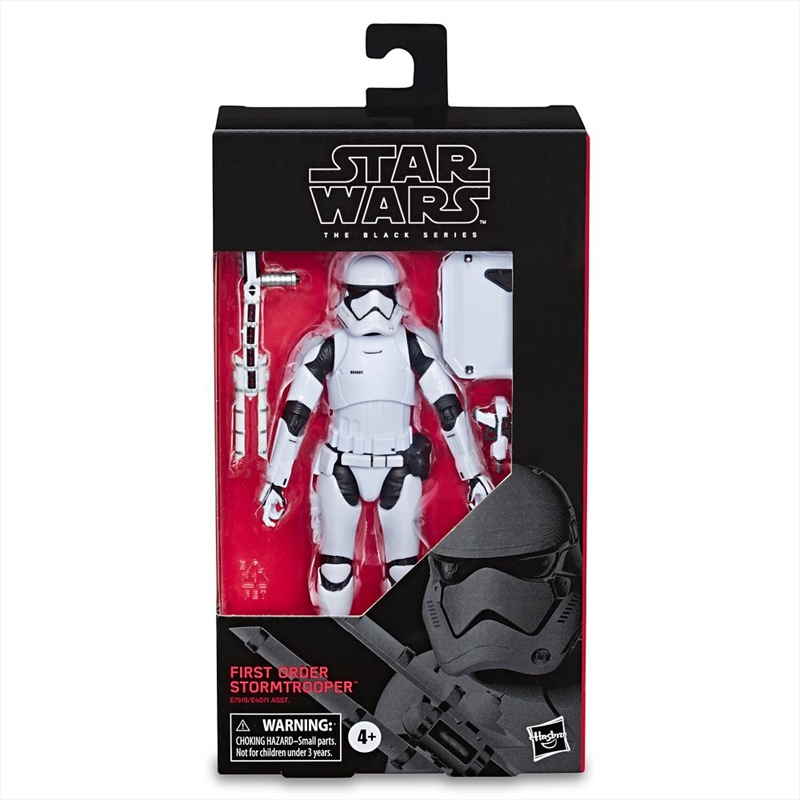 First Order Stormtrooper Action Figure – Star Wars: The Last Jedi – The Black Series | Merchandise
