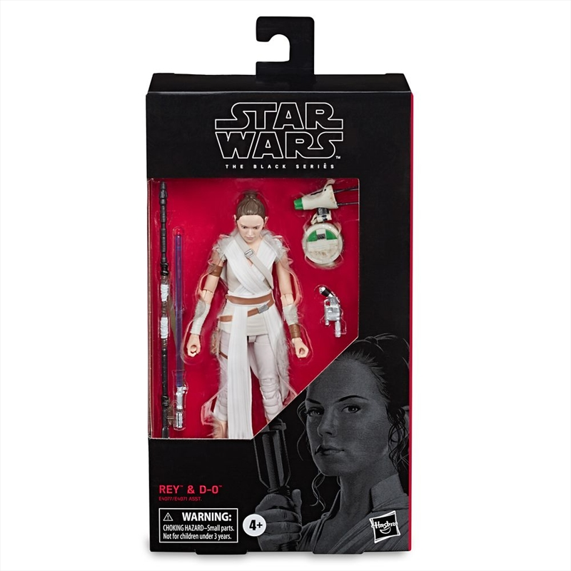 Rey and D-O Action Figure Set – Star Wars: The Rise of Skywalker – The Black Series | Merchandise