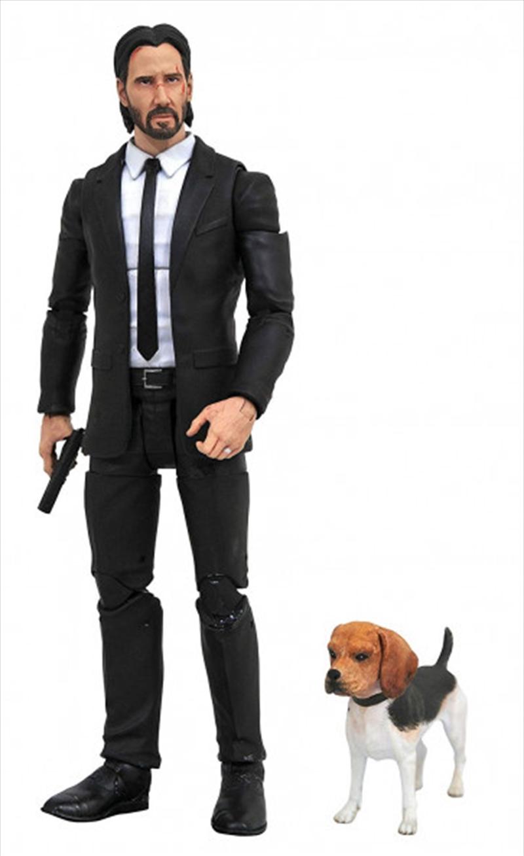 "John Wick - John Wick with Dog 7"" Action Figure   Merchandise"