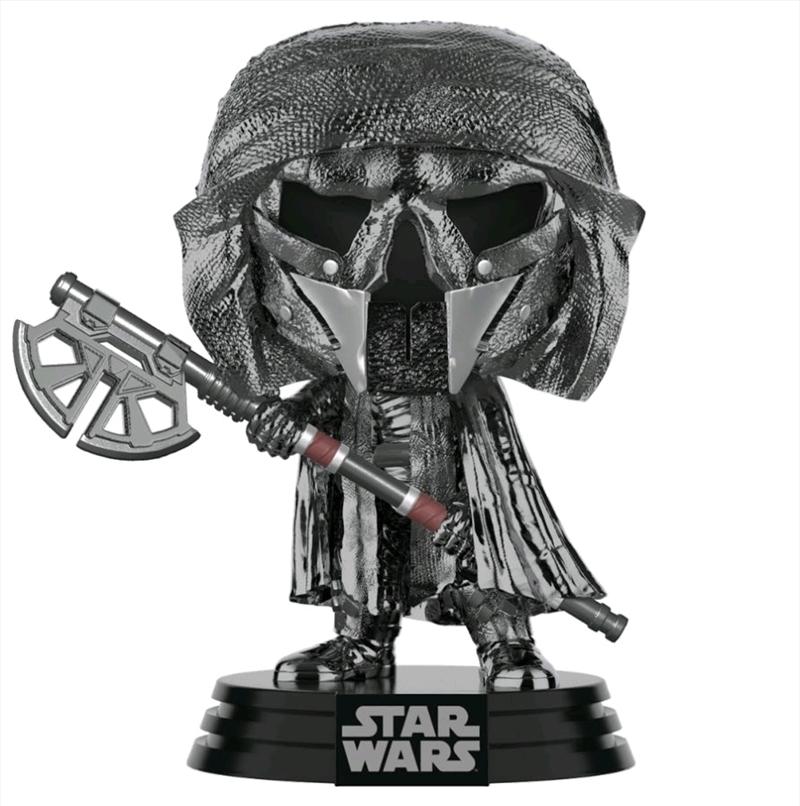 Star Wars - Knight of Ren Axe Episode IX Rise of Skywalker Hematite Chrome Pop! Vinyl | Pop Vinyl