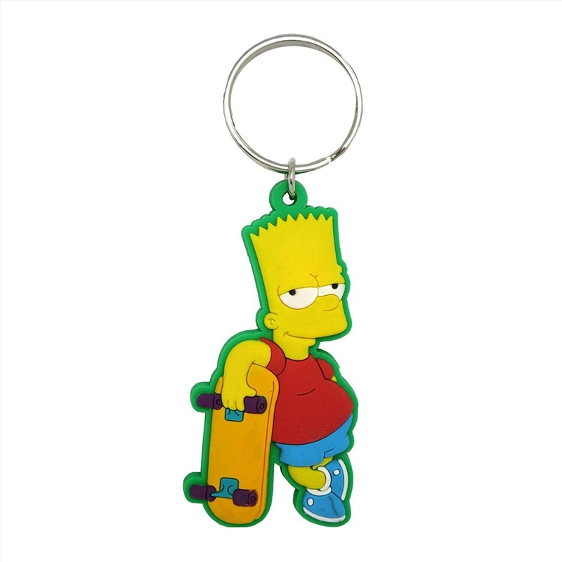 Keyring Soft Touch The Simpsons Bart Simpson with Skateboard | Accessories