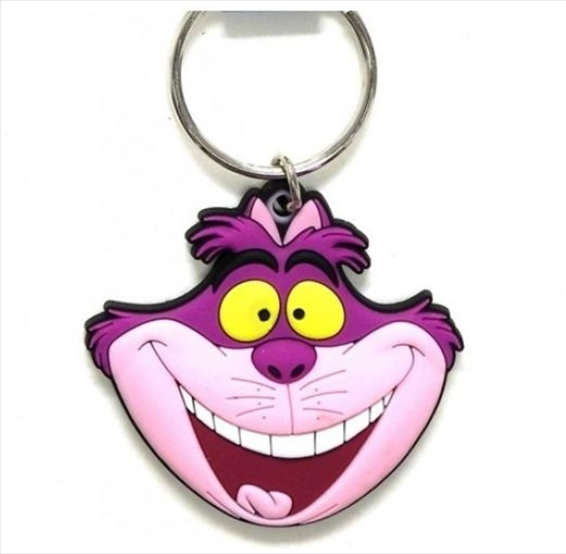Keyring Soft Touch Alice in Wonderland Cheshire Cat Head | Accessories