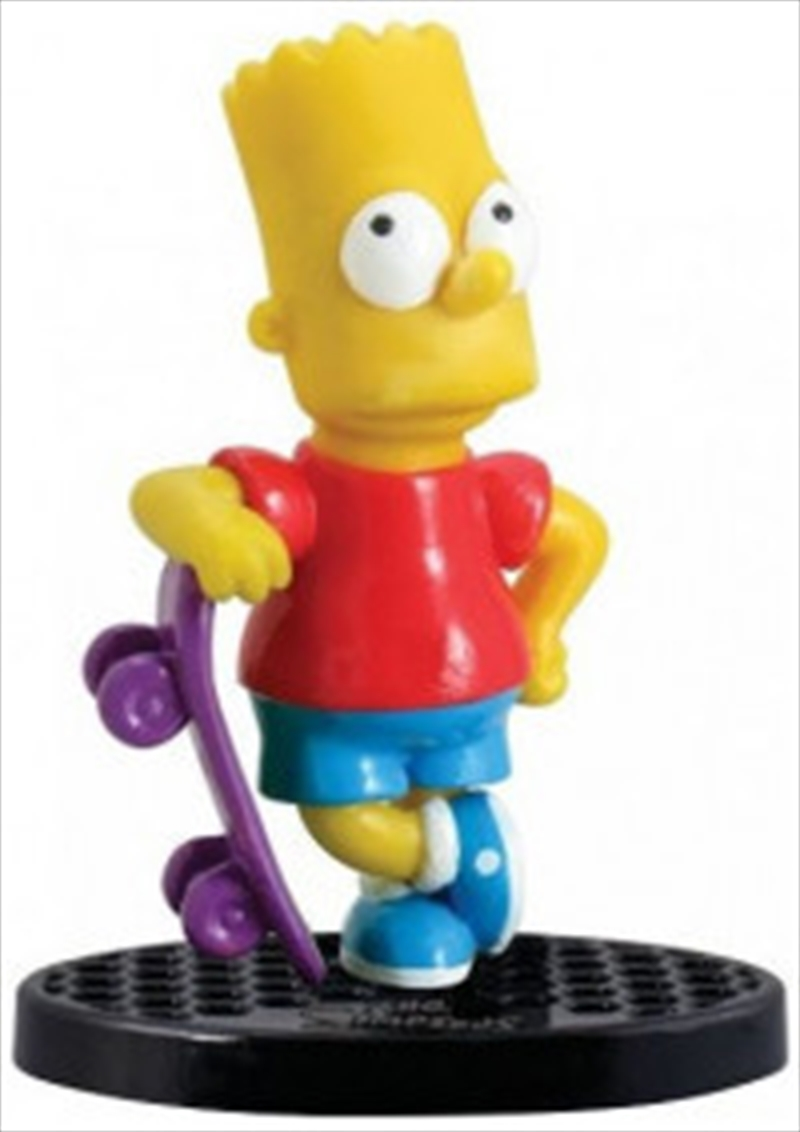 PVC Figurine The Simpsons Bart Simpson with Skateboard 2.75 Inch   Merchandise