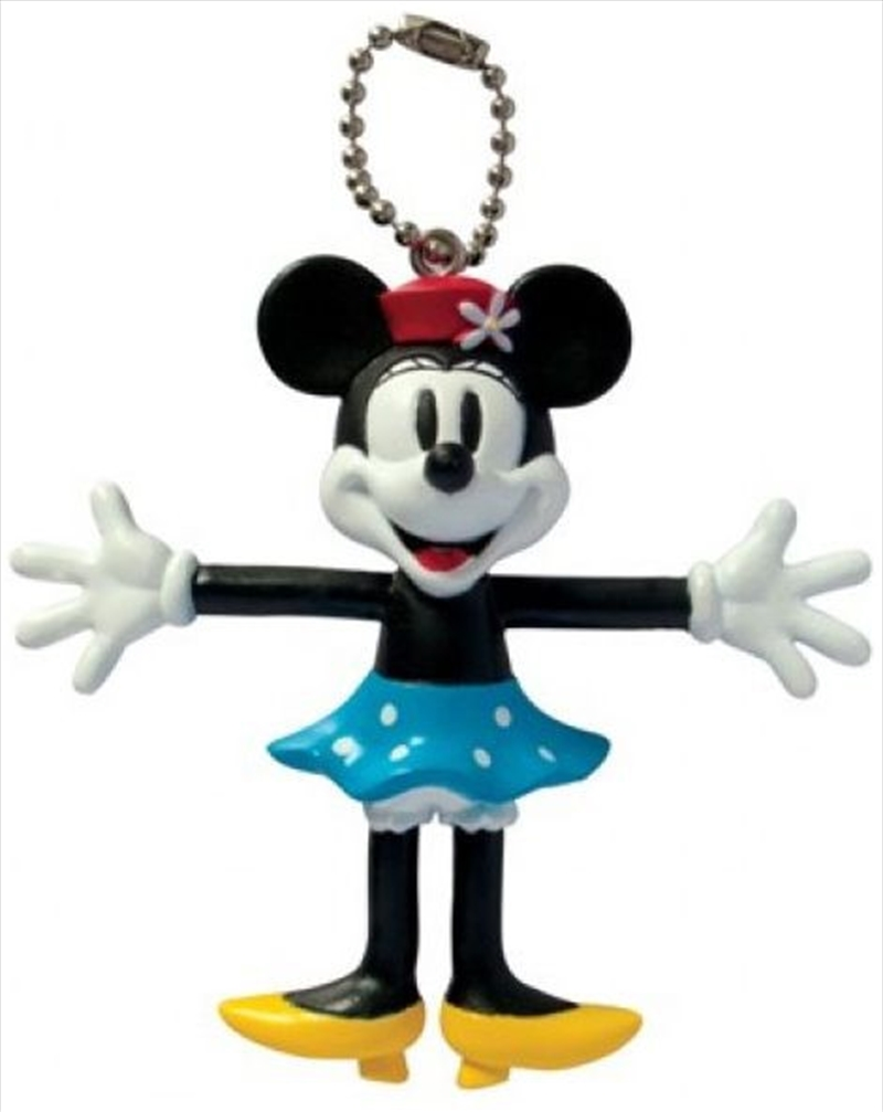 Keyring PVC Bendable Keyring Retro Minnie Mouse | Accessories