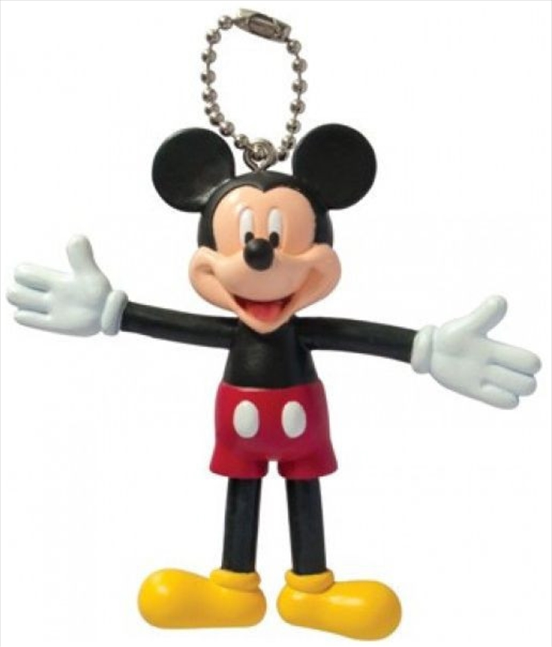 Keyring PVC Bendable Keyring Mickey Mouse | Accessories