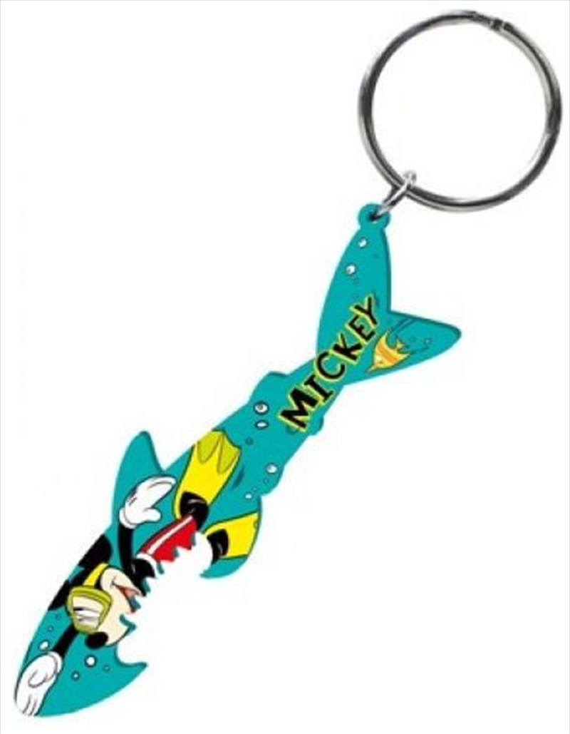 Keyring Pewter Bottle Opener Mickey Mouse Shark Diving | Accessories
