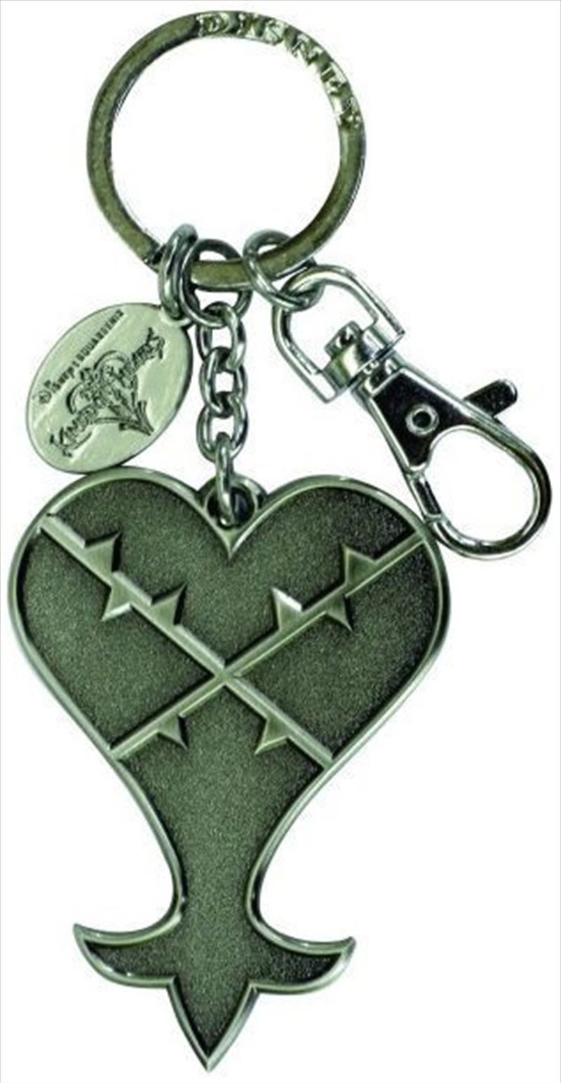 Keyring Pewter Kingdom Hearts Logo Heartless Logo | Accessories