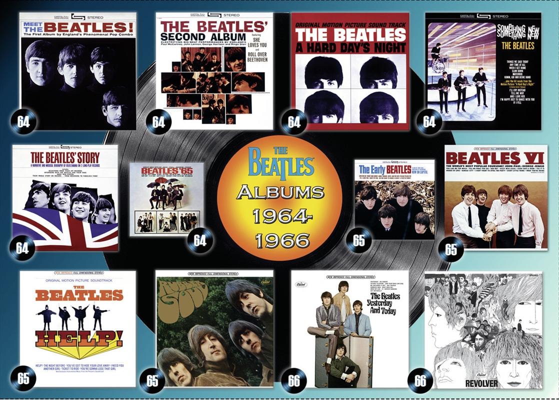 Beatles Albums 1964-1966 1000 Piece Puzzle | Merchandise