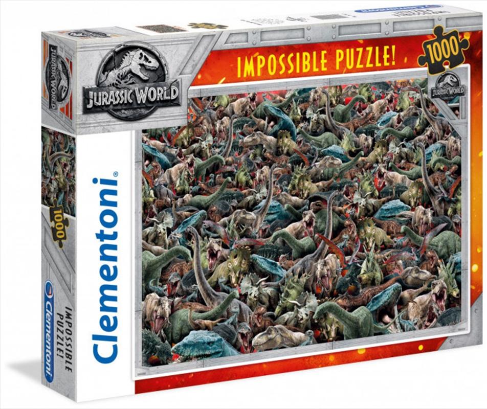 Clementoni Puzzle Jurassic World Impossible Puzzle 1000 Pieces | Merchandise