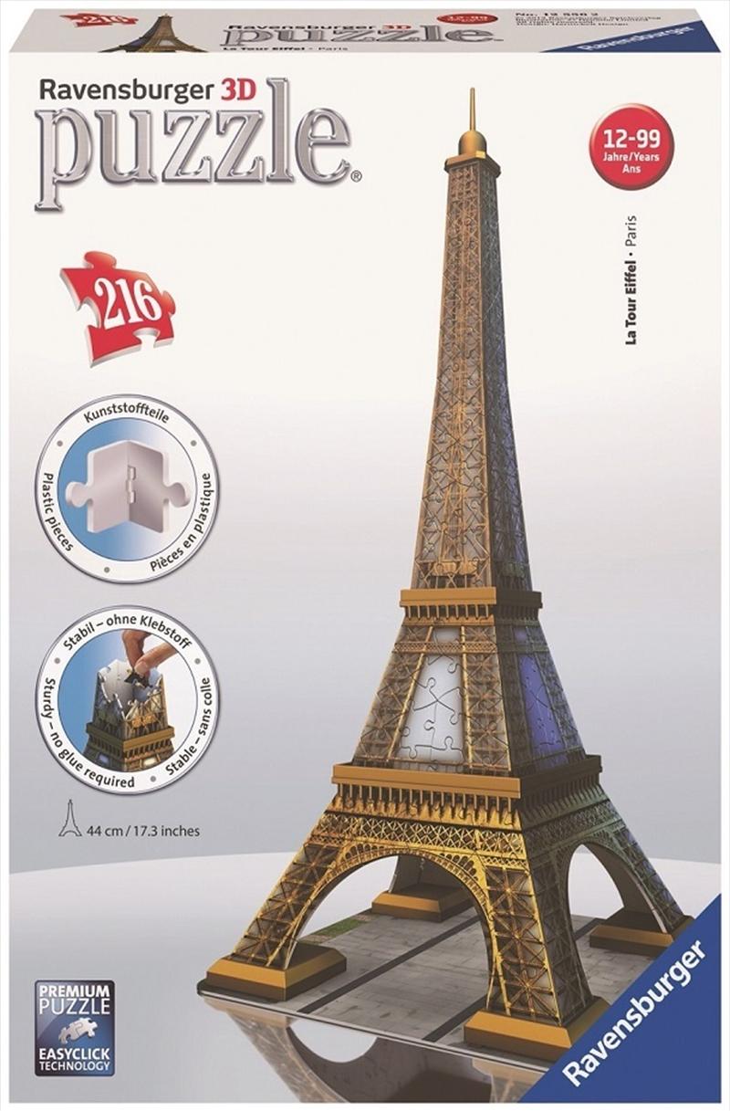Ravensburger - 216pc Eiffel Tower 3D Jigsaw Puzzle   Merchandise