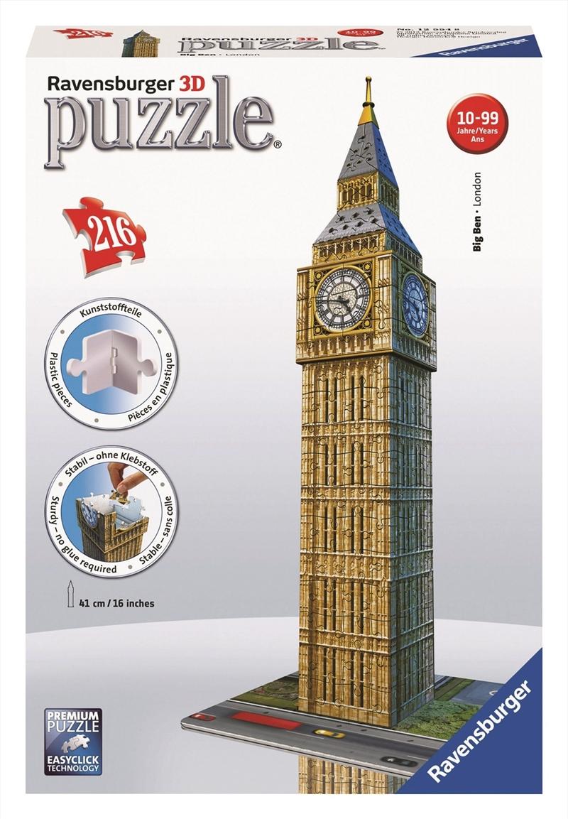 Ravensburger - 216 Piece Big Ben 3D Jigsaw Puzzle | Merchandise