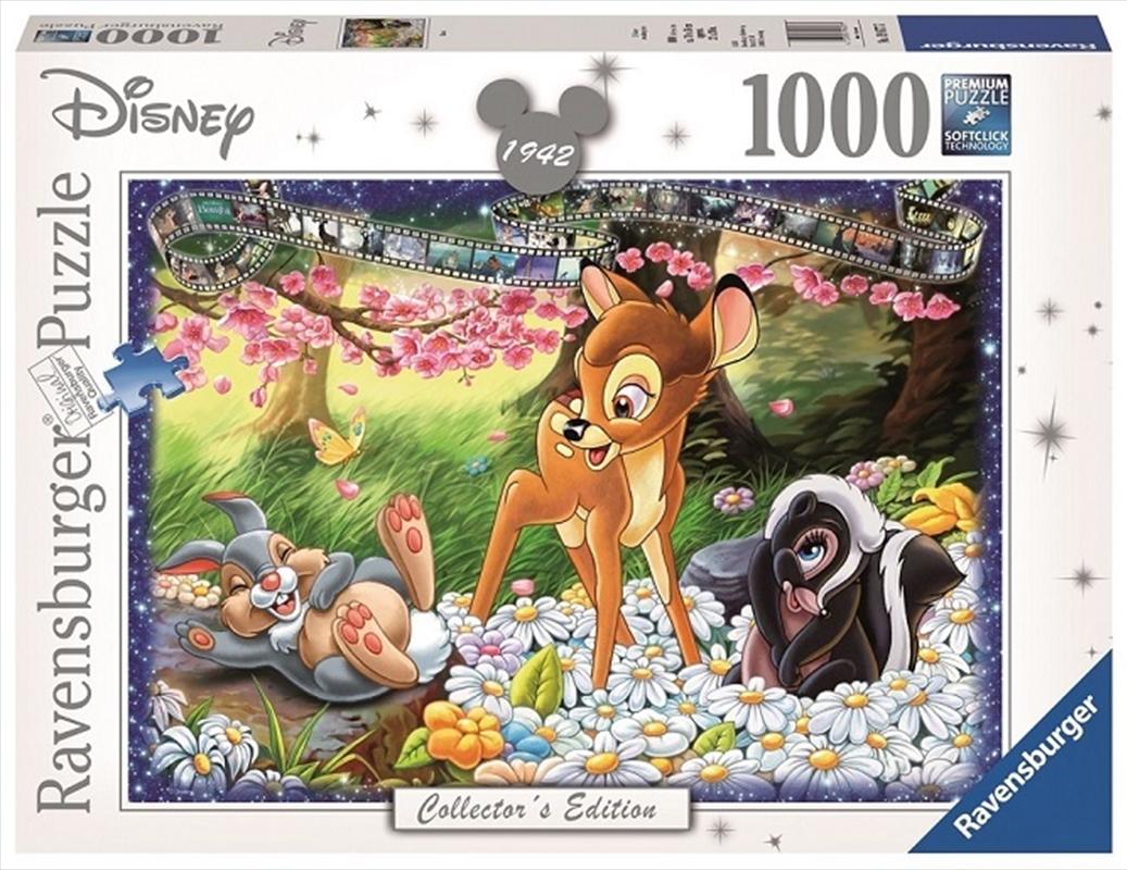 Ravensburger - 1000pc Disney Moments Bambi 1942 Jigsaw Puzzle   Merchandise