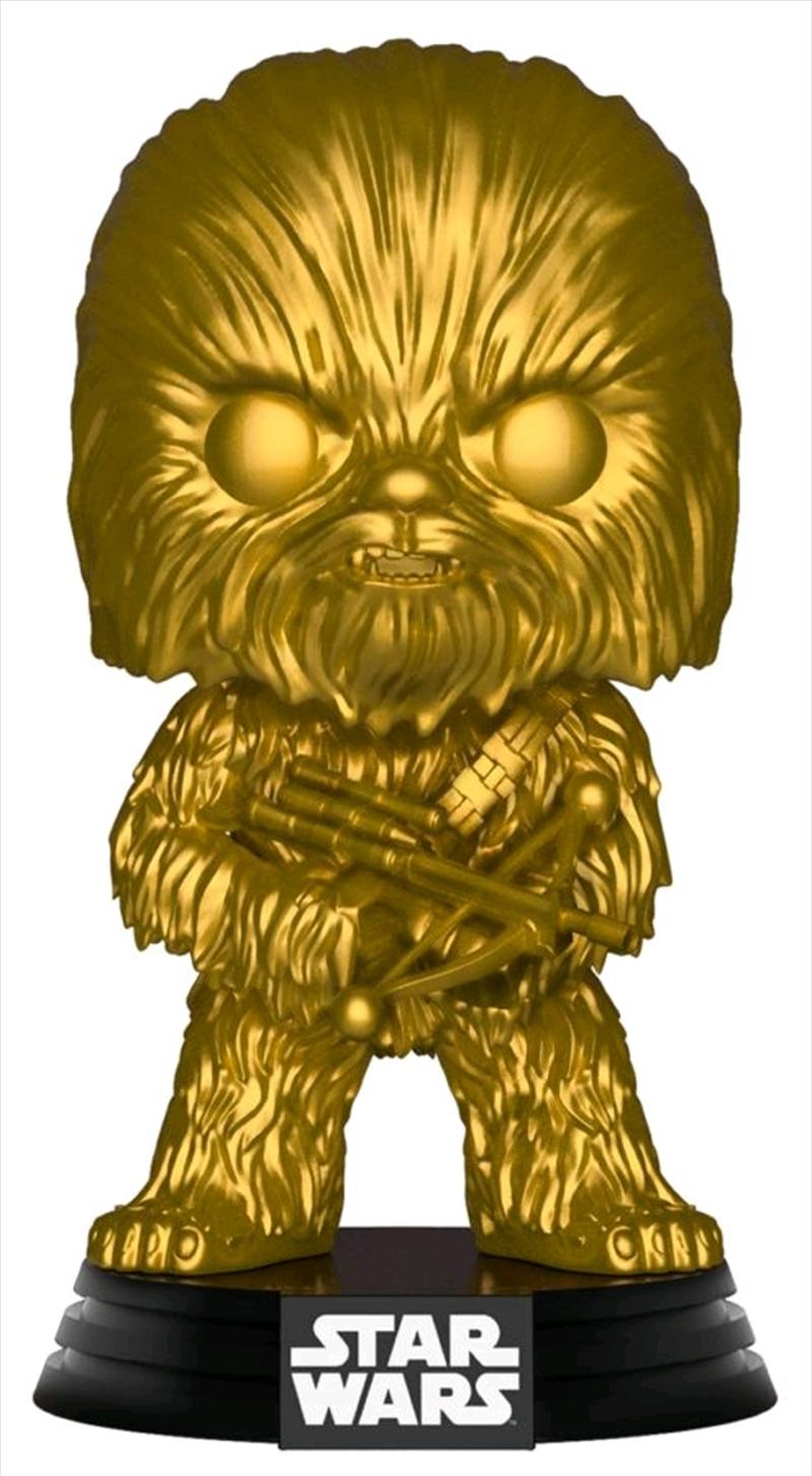 Star Wars - Chewbacca Gold Metallic US Exclusive Pop! Vinyl [RS] | Pop Vinyl