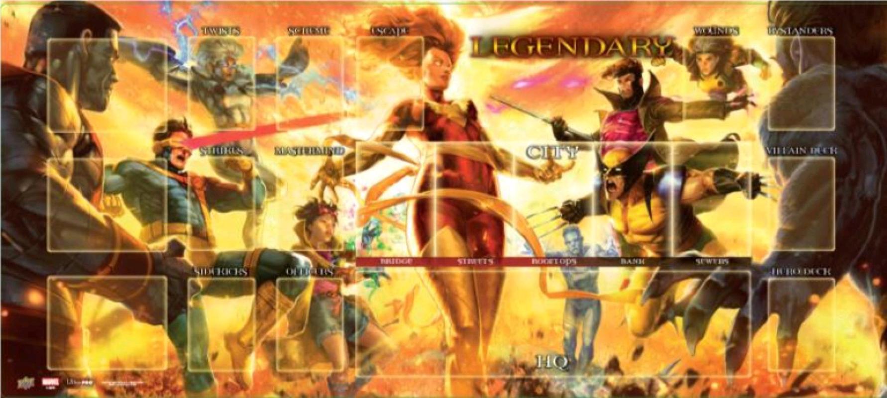 Marvel Legendary - Dark Phoenix vs X-Men Playmat | Merchandise