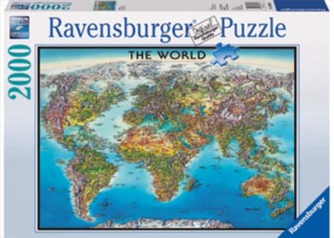 Ravensburger - 2000pc World Map Jigsaw Puzzle   Merchandise