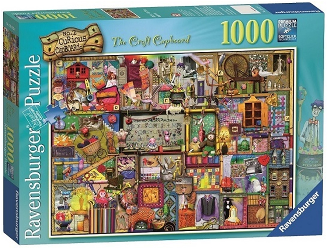 Ravensburger - 1000pc The Craft Cupboard Jigsaw Puzzle | Merchandise