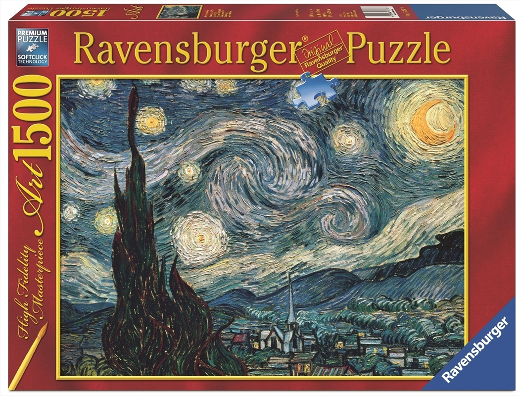 Ravensburger - 1500 Piece Van Gogh Starry Night Jigsaw Puzzle   Merchandise