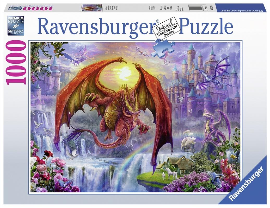 Ravensburger - 1000pc Dragon Kingdom Jigsaw Puzzle   Merchandise