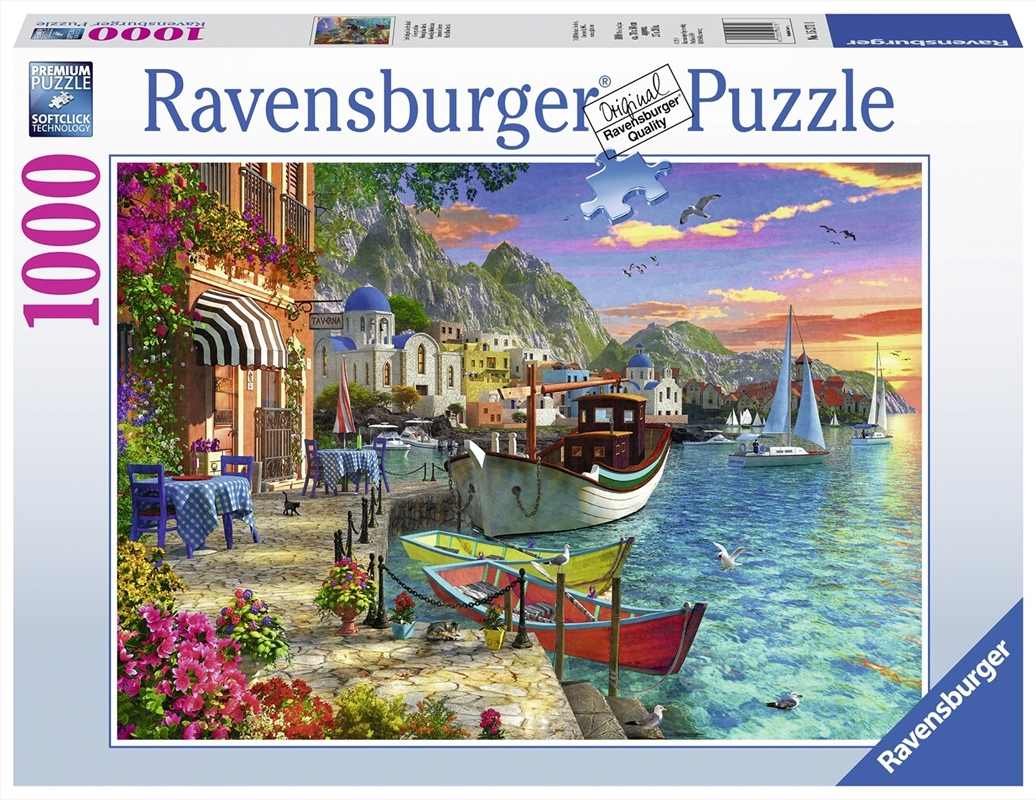 Ravensburger - 1000pc Grandiose Greece Jigsaw Puzzle | Merchandise