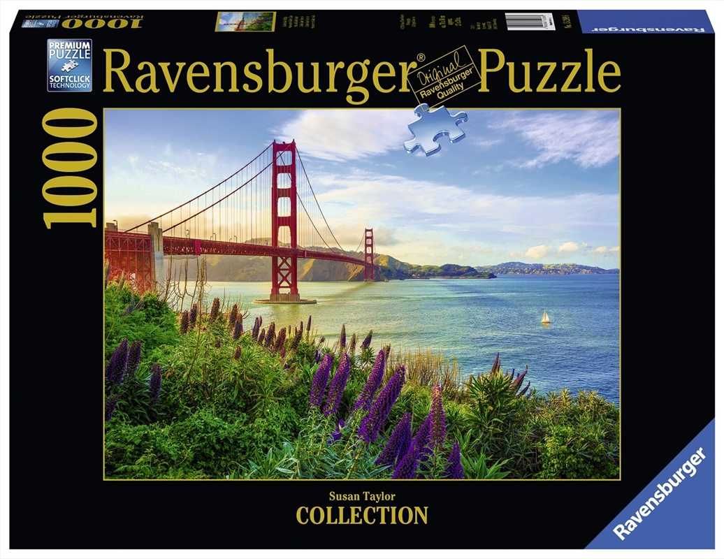 Ravensburger - 1000pc Golden Gate Sunrise Jigsaw Puzzle | Merchandise