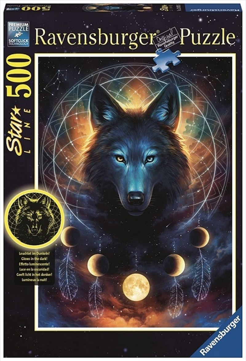 Ravensburger - 500 Piece Lunar Wolf Jigsaw Puzzle | Merchandise