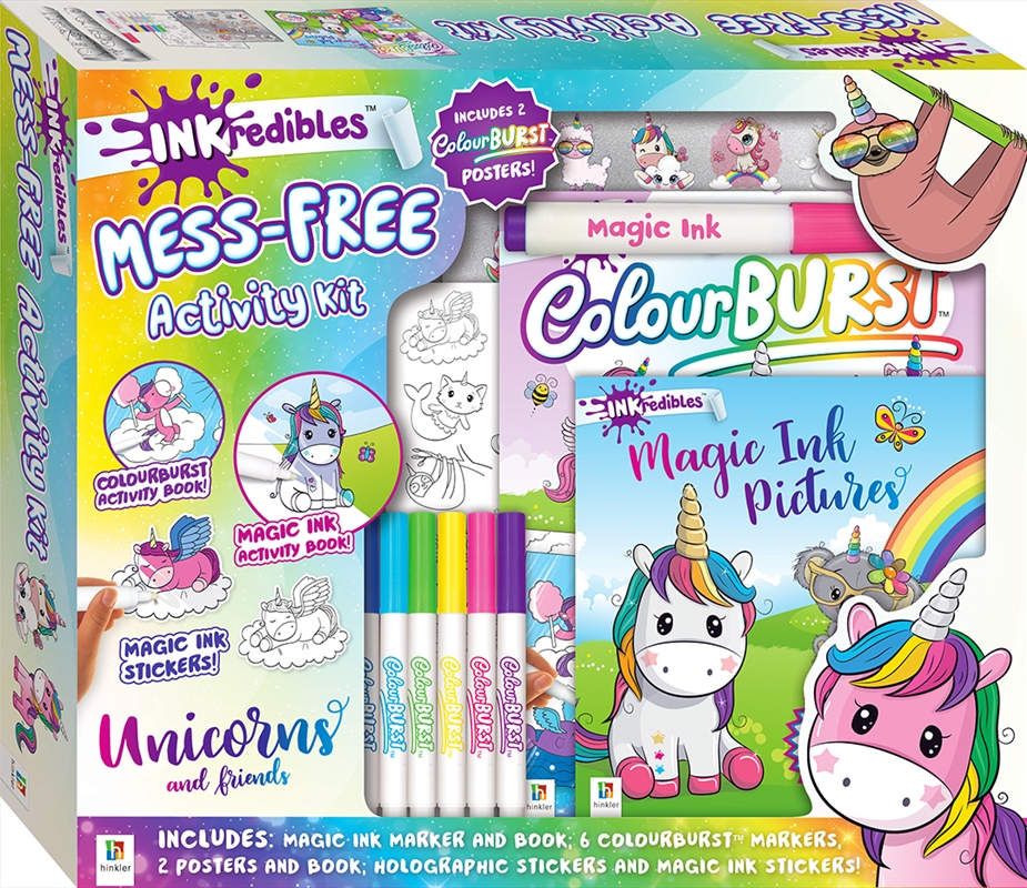 Inkredibles Activity Kit with Poster: Unicorns and Friends | Merchandise